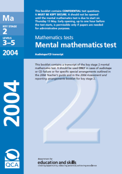KS2 SATs maths 2003