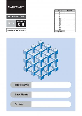 KS2 maths SATs: 2005