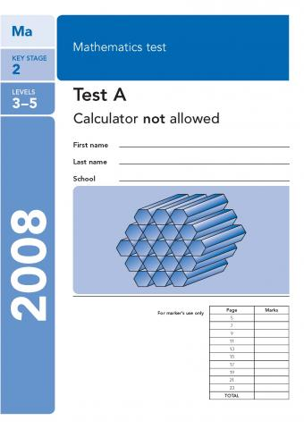 KS2 maths SATs 2008