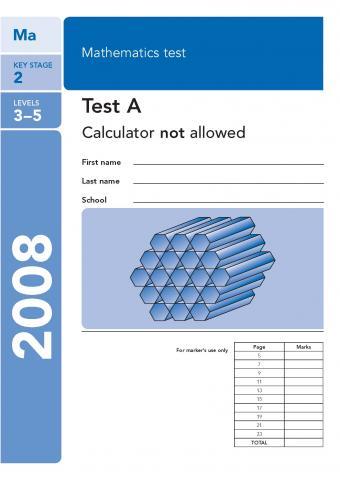 KS2 maths SATs 2008