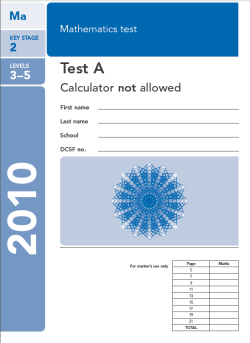 KS2 maths SATs 2010