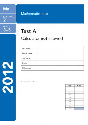 KS2 maths SATs 2012
