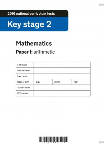 KS2 maths SATs 2016