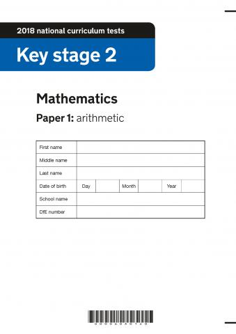 KS2 maths SATs 2018