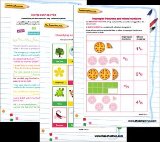 English, maths & science worksheets