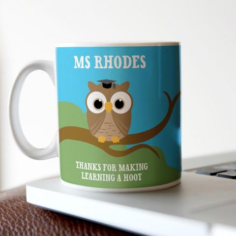 Personalised Mug, Teacher's Owls