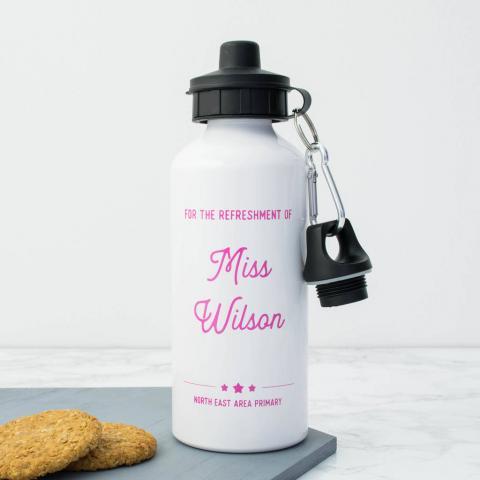 Personalised Teacher Water Bottle