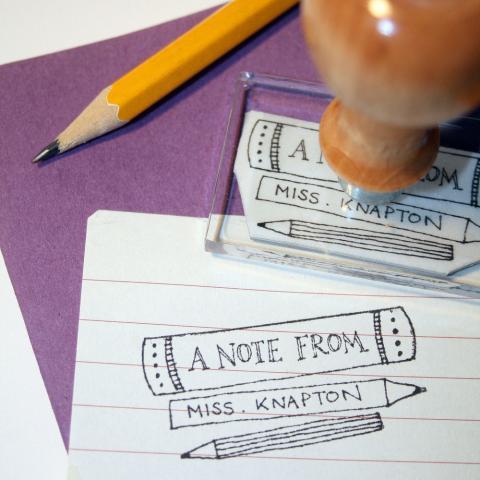 Personalised Teacher Stamp, Bloomfield & Rolfe