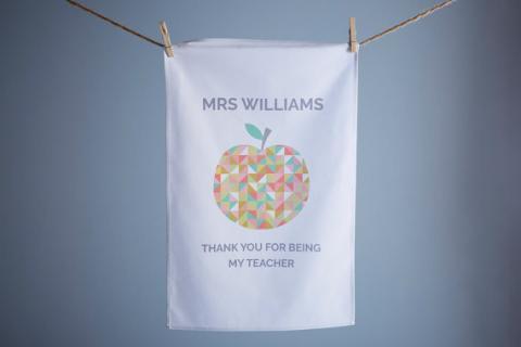 Personalised Teacher Tea Towel