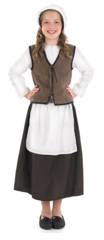 Tudor kitchen girl costume