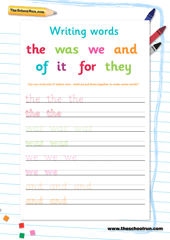 Writing full words