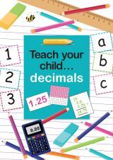 Teach your child decimals eBook cover