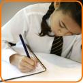 Girl doing times tables homework