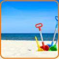Spades on the beach