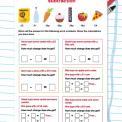 Money word problems: Subtraction worksheet