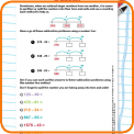 Partitioning numbers to subtract worksheet