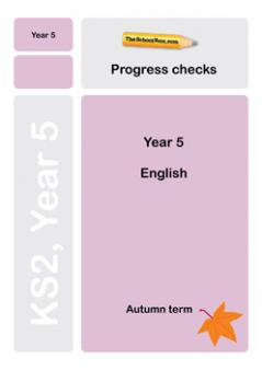 Year 5 English Progress Check