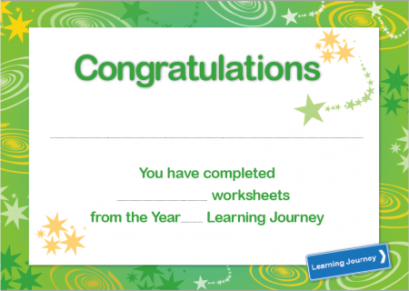 Learning Journey Certificate