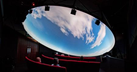 Inside the planetarium at the Great North Museum