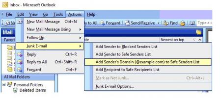 how to add to safe senders list outlook