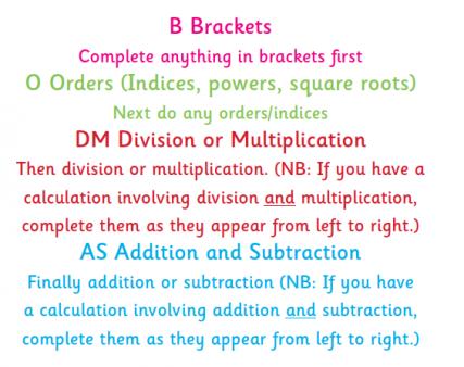 Bodmas Explained For Parents Bodmas And Bidmas In Primary School