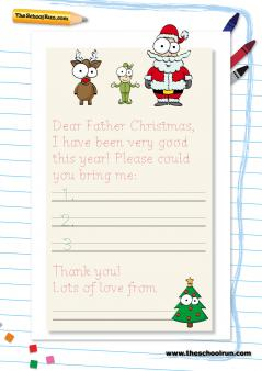 Custom of writing letters from santa ks1