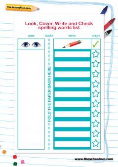 Blank Spelling List Template. statutory spelling list assessment ...