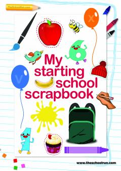 Starting School Scrapbook