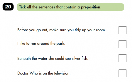 Prepositions explained for primary-school parents   Prepositions in ...