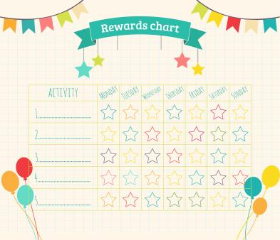 photograph relating to Free Printable Sticker Charts known as No cost printable benefit chart Downloadable gain charts