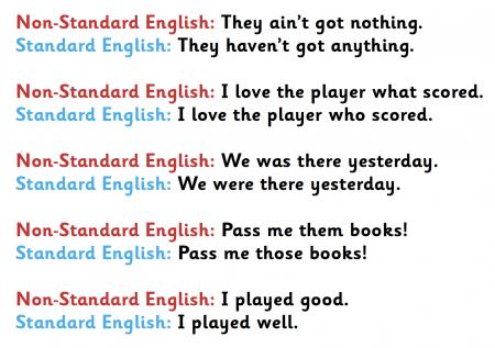 Standard english essay