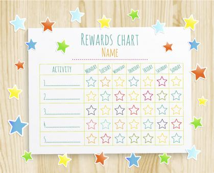 photo relating to Printable Star Charts identified as Totally free printable benefit chart Downloadable gain charts