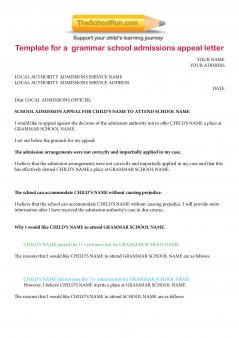 Grammar school appeals letter template free secondary grammar download theschoolruns free sample appeals letter for grammar schools and use it as a template to write your own thecheapjerseys Images
